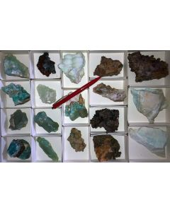 Mixed minerals of high quality, Laurion, Greece, 1 flat (#4)