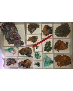 Mixed minerals of high quality, Laurion, Greece, 1 flat (#7)