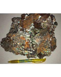 Smithsonite xx (green!), Aurichalcite xx; Barbara Mine, Laurion, Greece; GS