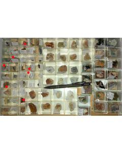 Mixed minerals from Clara Mine, Black Forest, Germany, 1 lot of 75 pieces.
