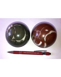 Jaspis, green, polished, sphere, Aremnia, 1 piece