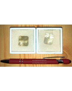 Quartz (with tremolite/chlorite inculsions) facetted 20 mm, Madagascar