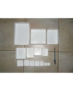 "Fold up boxes SB 25, 2"" x 3"", fit 25 per flat. 100 pcs."
