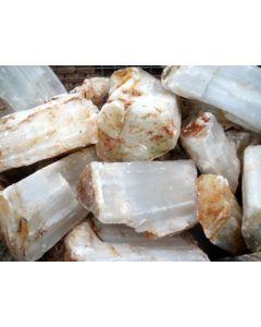 Selenite, white (gypsum, alabaster) Morocco, 100 kg