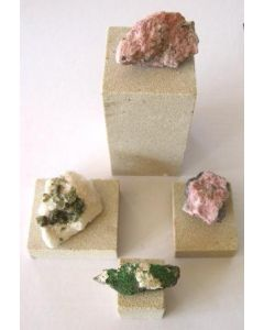 sandstone bases, different sizes, set of 10 pieces