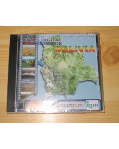 Bolivia CD-ROM detailed map