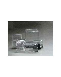 acrylic box, 080 x 080 x 078 mm, white base, 1 piece