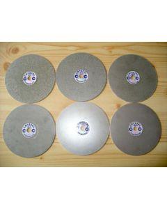 """Diamond lap, galvanic, 8"""" diameter, grain 0260"""