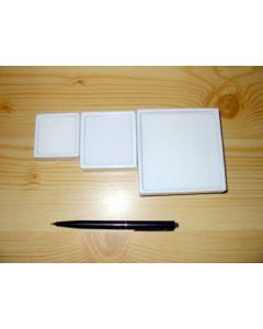 Gemstone box, 4x4x2 cm, white, 1 piece