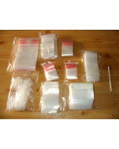 zip lock bags, 100 x 150 mm