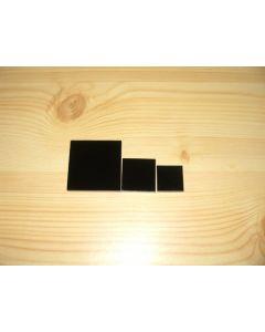 Acrylic squares 2 x 2 x 0.25 inch, black, 10 pieces.